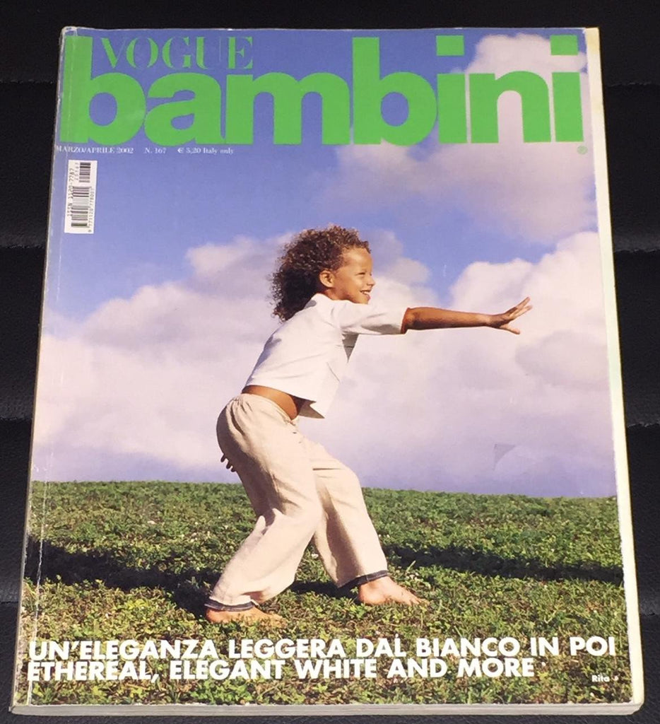VOGUE BAMBINI Kids Children Enfant Fashion ITALIA Magazine March 2002
