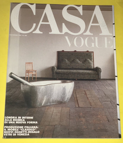 CASA VOGUE Magazine Italy November 1987 Issue #190 Vintage