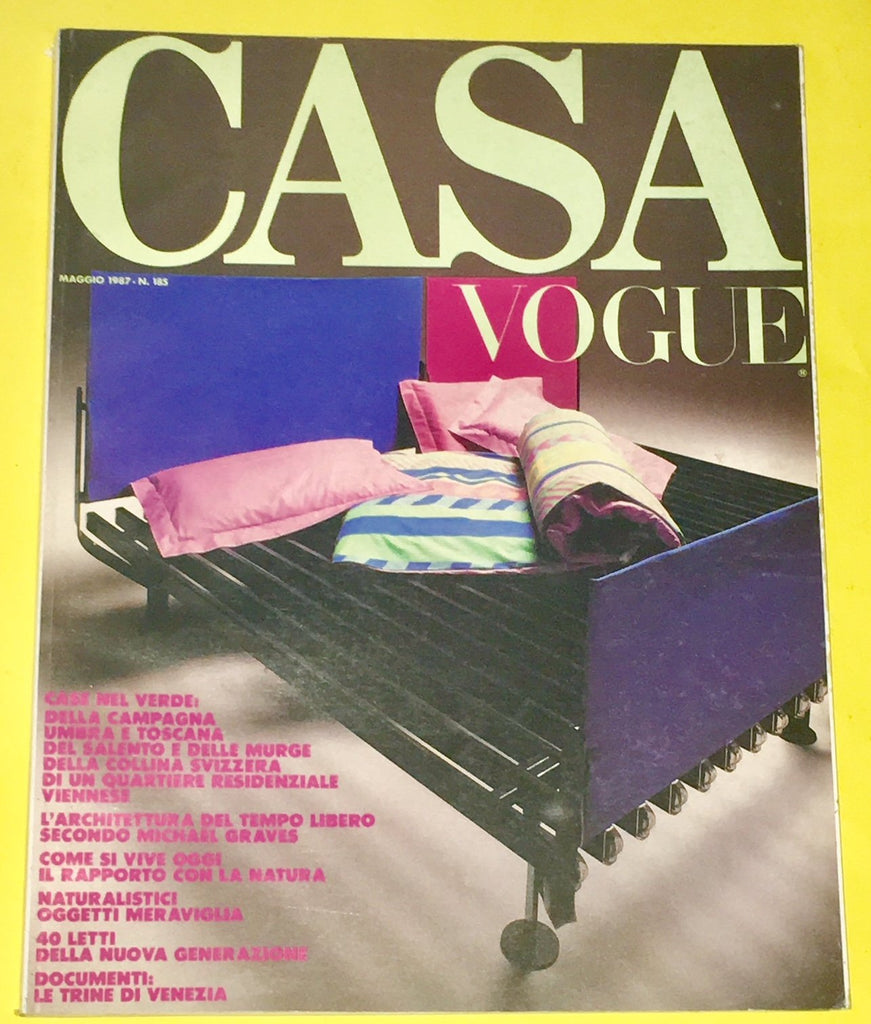 CASA VOGUE Magazine Italy May 1987 Issue #185 Vintage Design Architecture