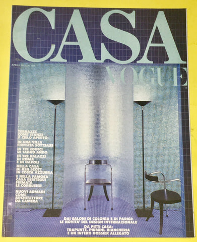 CASA VOGUE Magazine Italy April 1987 Issue #184 Vintage Design Architecture