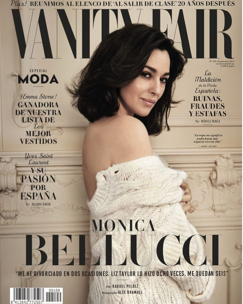 Vanity Fair Spanish Magazine 2017 MONICA BELLUCCI Marta Ortiz YVES SAINT LAURENT