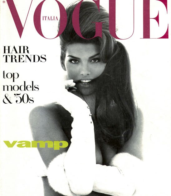 Vogue Italia Magazine 1991 SHANA ZADRICK Linda Evangelista CHRISTY TURLINGTON
