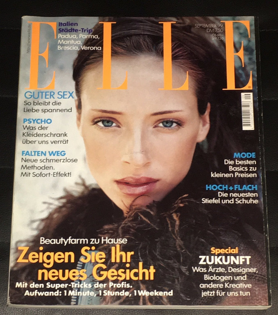 ELLE Germany Magazine September 1999 SATYA ARTEAU Heidi Klum