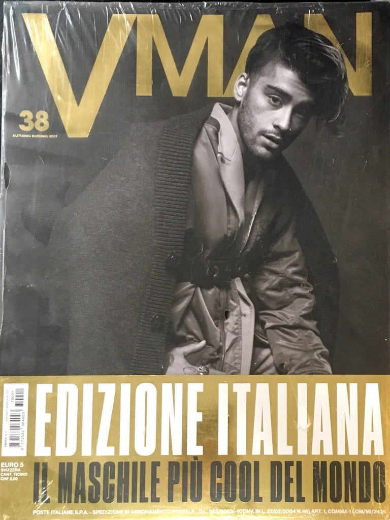 V Man Magazine Fall Winter 2017 ZAYN MALIK Bruce Weber JAMES NORTON Italian Text
