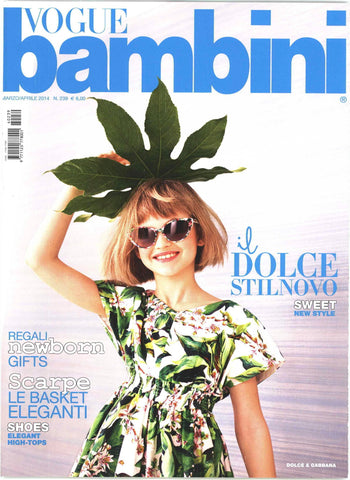 VOGUE ITALIA BAMBINI Kids Children Enfant Fashion Magazine March 2014