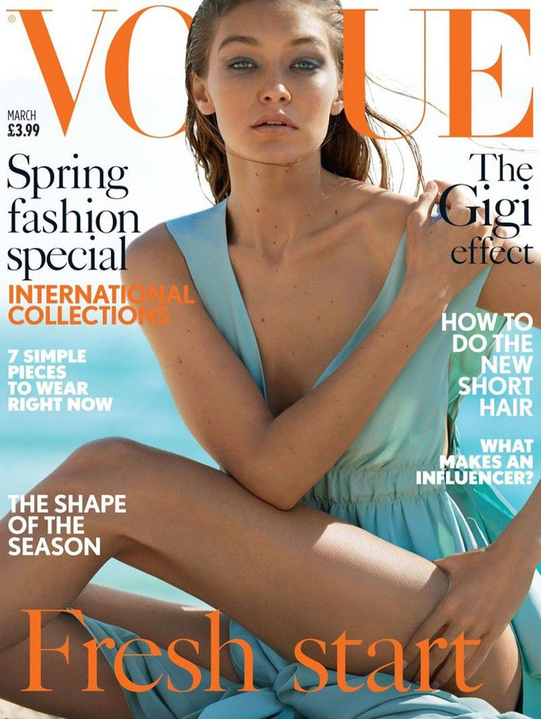 VOGUE UK Magazine March 2017 GIGI HADID Anna Ewers LILY DONALDSON Luna Bijl