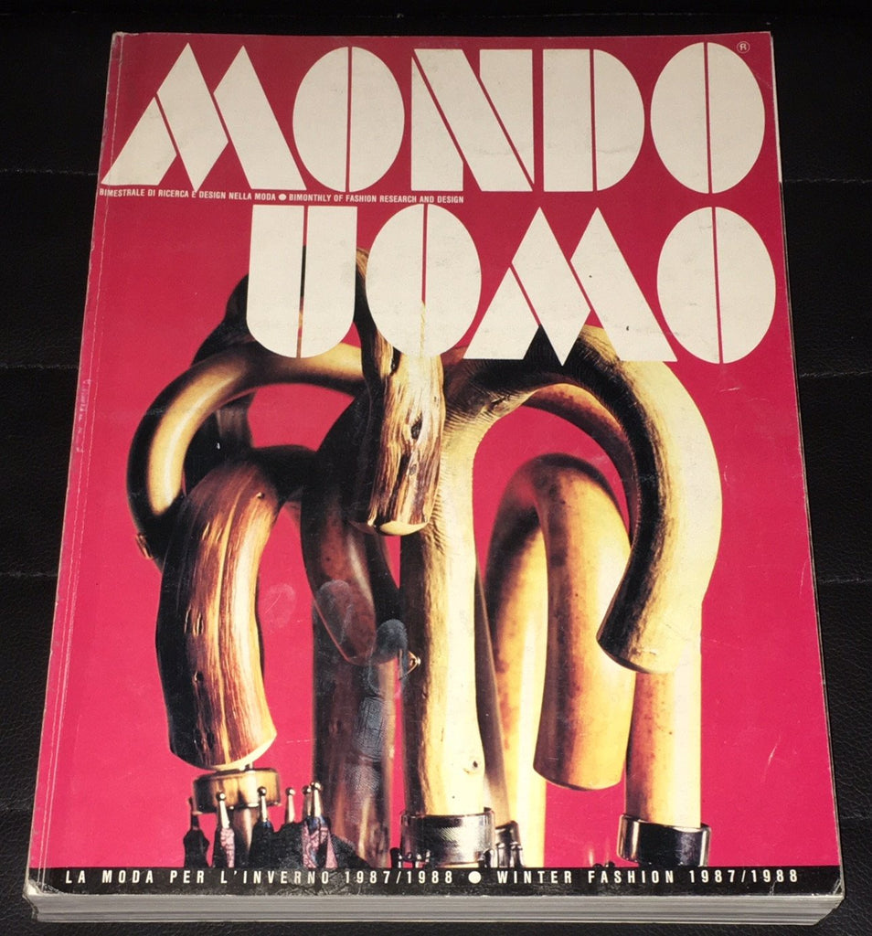 MONDO UOMO Italian Fashion Magazine September 1987 With English text