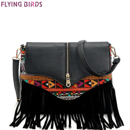 FLYING BIRDS 2016 women messenger bags tassel bag National shoulder bag handbag bolsas women crossbody bags purse LM3932fb
