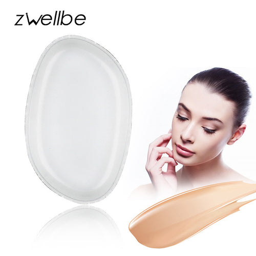 zwellbe 100% New Hot SiliSponge Blender Silicone Sponge makeup puff For Liquid Foundation BB Cream Beauty Essentials