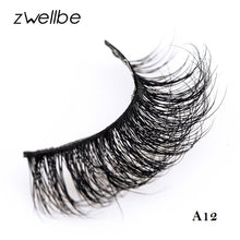 zwellbe Mink Lashes 3D Mink Eyelashes Natural False Eyelashes 1 Pair Handmade Fake Eye Lashes Extension For Beauty Makeup