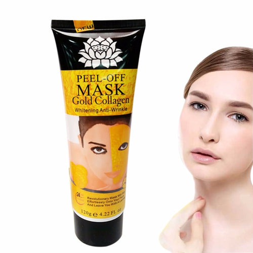 1pcs Women 24K Golden Facial Mask Anti-Wrinkle Moisturizing Whitening Face Lifting Firming
