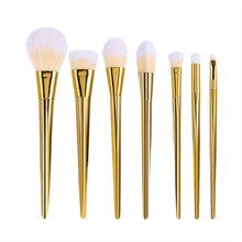 7pcs Professional Makeup Brushes Powder Applicator Kit for Foundation Blush Contour Eyeshadow Makeup