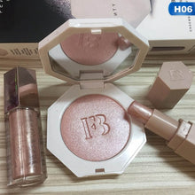 3pcs/set powder lip gloss highlight  three piece in one Cosmetic combination Waterproof Lip make up set whosale 6 colors