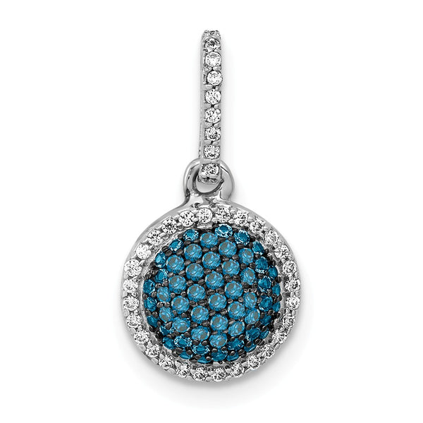 796abf824 14k White Gold Blue Diamond Pendant – House of Monaco Ltd.