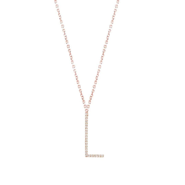 Crystal letter necklace