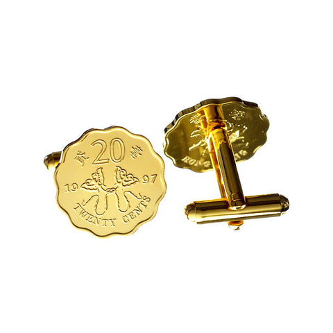 1997 Commemorative Twenty cents coin cufflinks