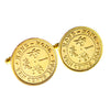 Elizabeth II Ten cents coin cufflinks - large