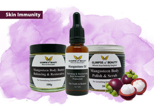 Skin Immunity Set Featuring Mangosteen Oil