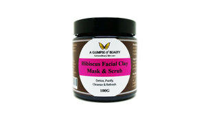 Facial Clay Mask & Scrub Hibiscus