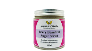 Berry beauty facial sugar scrub