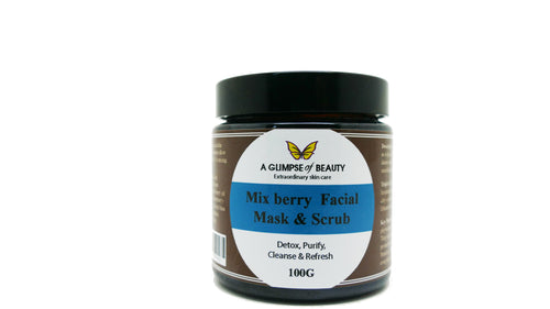 Facial Clay Mask & Scrub Mix Berry