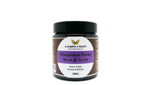Facial Clay Mask & Scrub Mangosteen