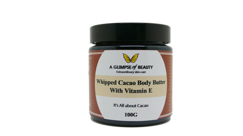 Whipped Raw Organic Cacao Body Butter with Natural Vitamin E Oil