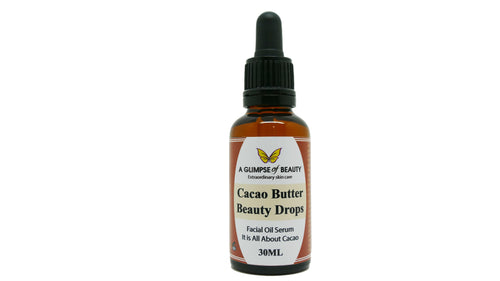 Cacao Butter Beauty Drops, Wrinkle Therapy Oil Serum.