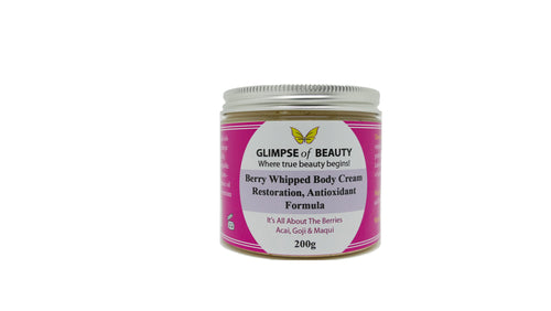 Berry Whipped Body Cream Acai berry oil, Goji berry oil, Maqui  Berry Oil 200 G