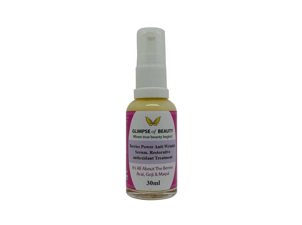 Berry Power Anti- Wrinkle Serum, Maqui berry oil, Goji berry oil , Acai berry oil, Collagen