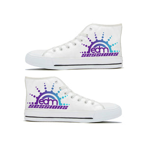 Sunburst Logo - Canvas High-Tops