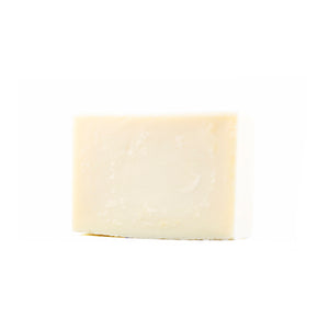 A simple and white pure olive oil bar of soap