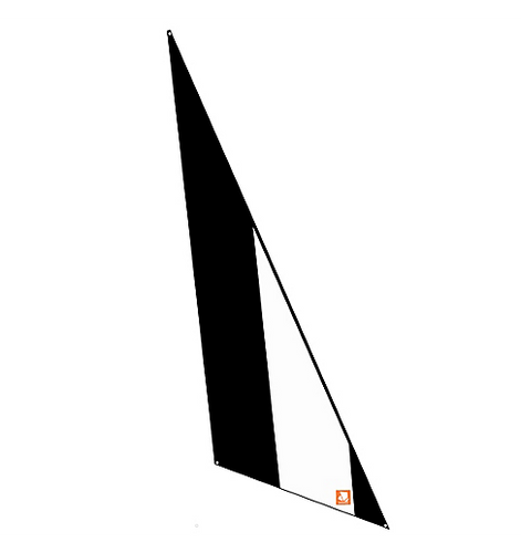 Sail, Pico, Jib, Black/White