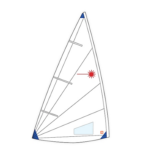 Laser Radial Class Compliant Sail