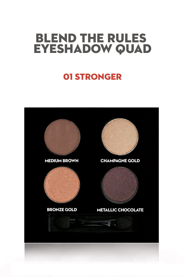 SUGAR Blend The Rules Eyeshadow Quad - 01 Stronger (GWP)
