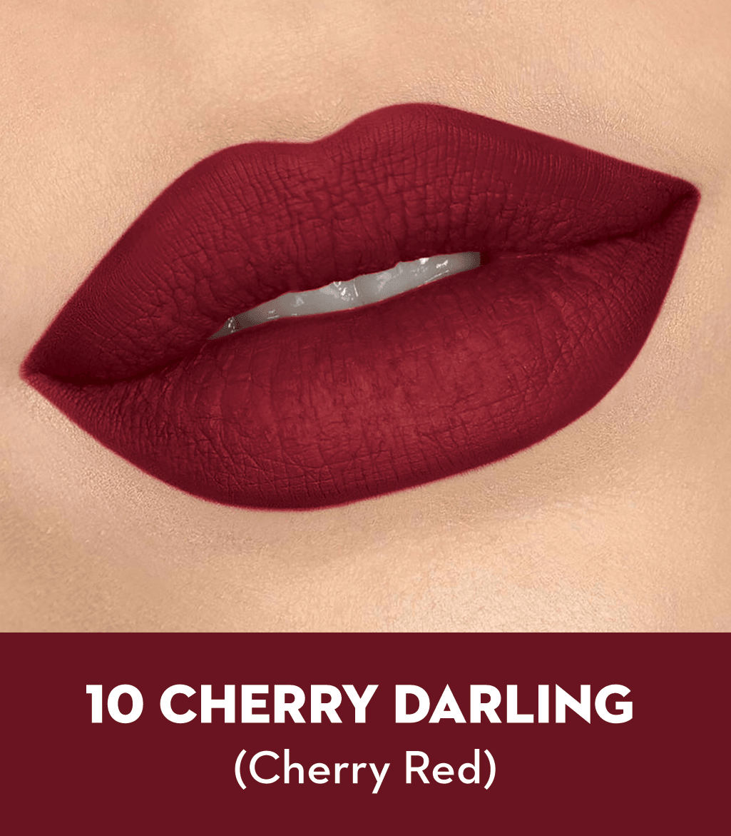 SUGAR Matte As Hell Crayon Lipstick - 10 Cherry Darling (Cherry Red)