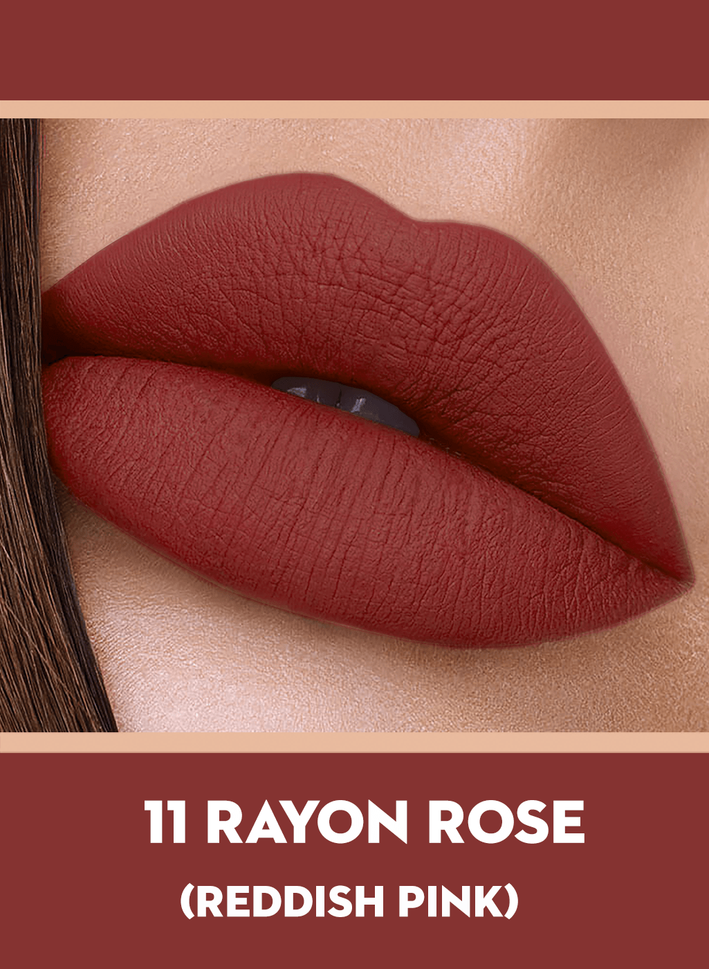 SUGAR Suede Secret Matte Lipcolour - 11 Rayon Rose (Brick Rose / Reddish Pink)