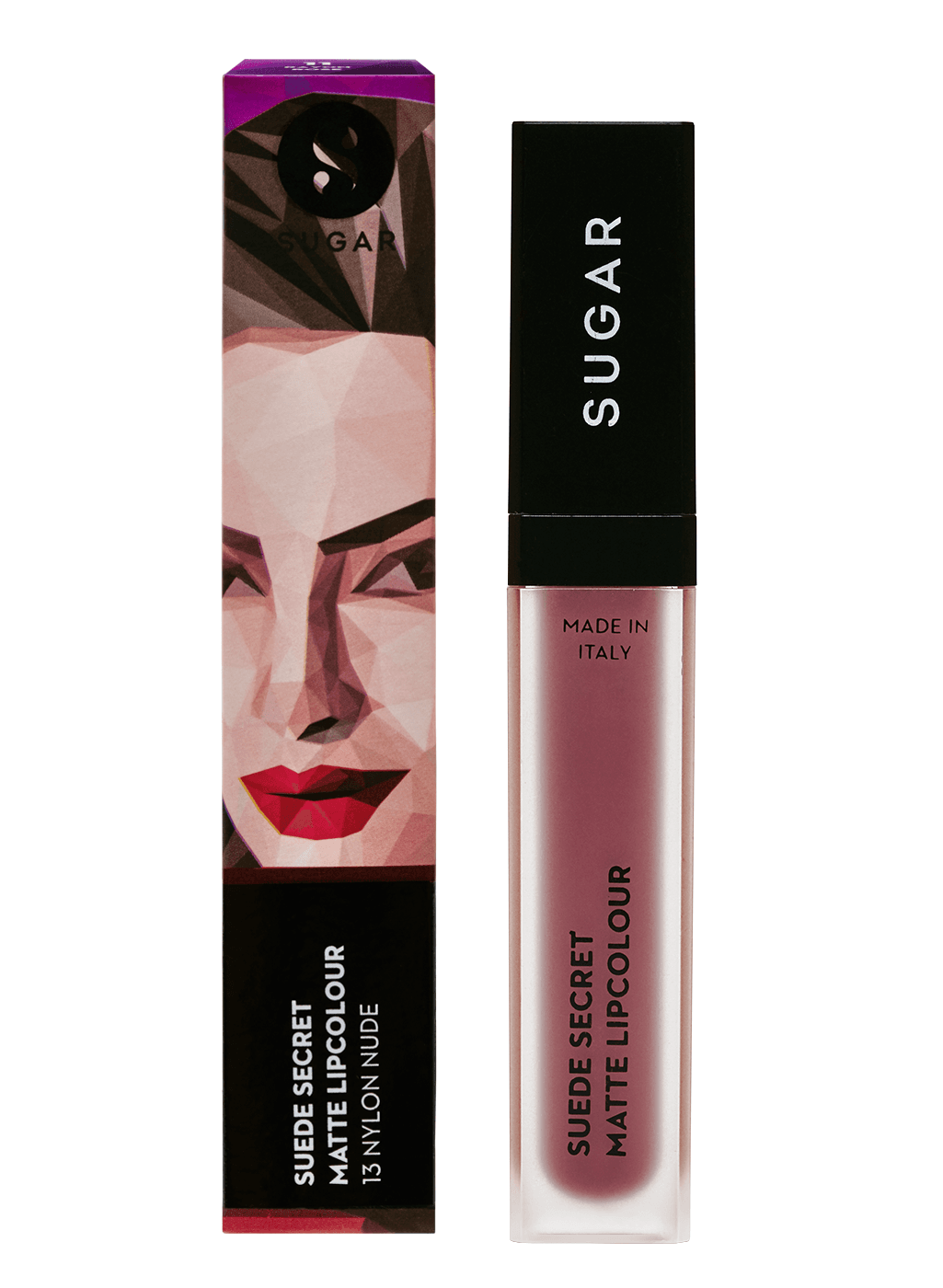 SUGAR Suede Secret Matte Lipcolour - 13 Nylon Nude (Nude Pink)
