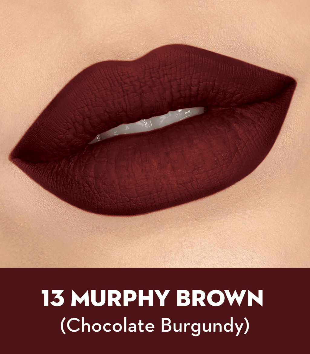 SUGAR Matte As Hell Crayon Lipstick - 13 Murphy Brown (Chocolate Burgundy)