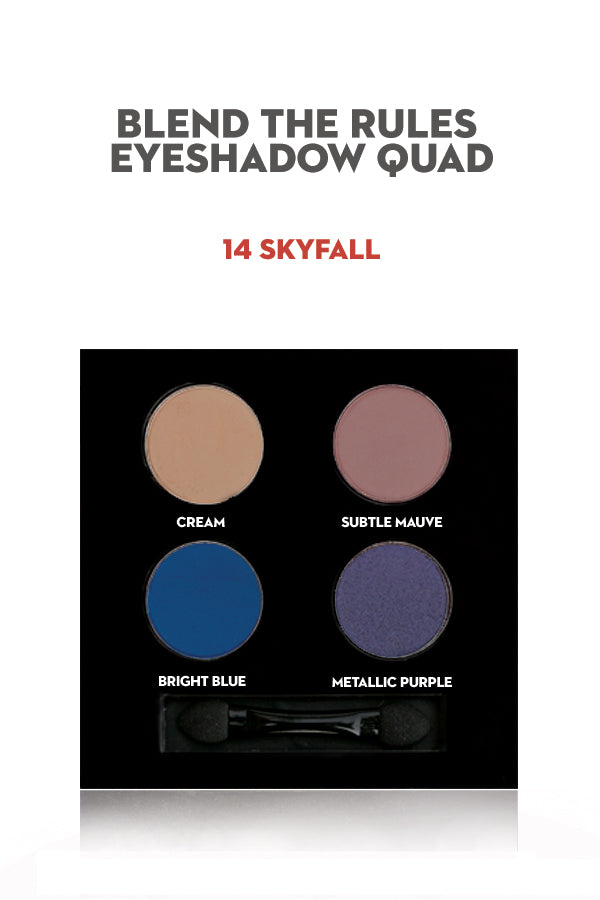 SUGAR Blend The Rules Eyeshadow Quad - 14 Skyfall