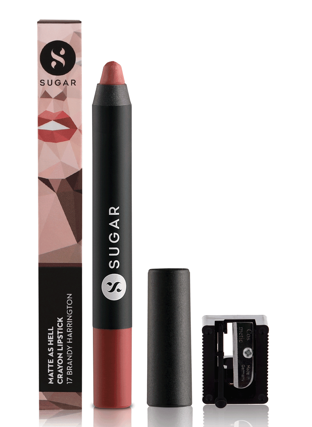 SUGAR Matte As Hell Crayon Lipstick - 17 Brandy Harrington (Rusty Reddish Pink)
