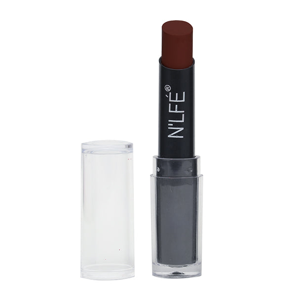 N'LFE Lipstick Powder Matte - PM111 (Earthy Brown)