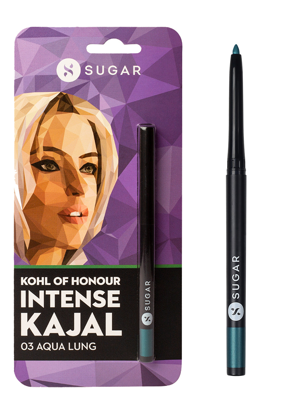 SUGAR Cosmetics Kohl Of Honour Intense Kajal - 03 Aqua Lung (Metallic Mint Green)
