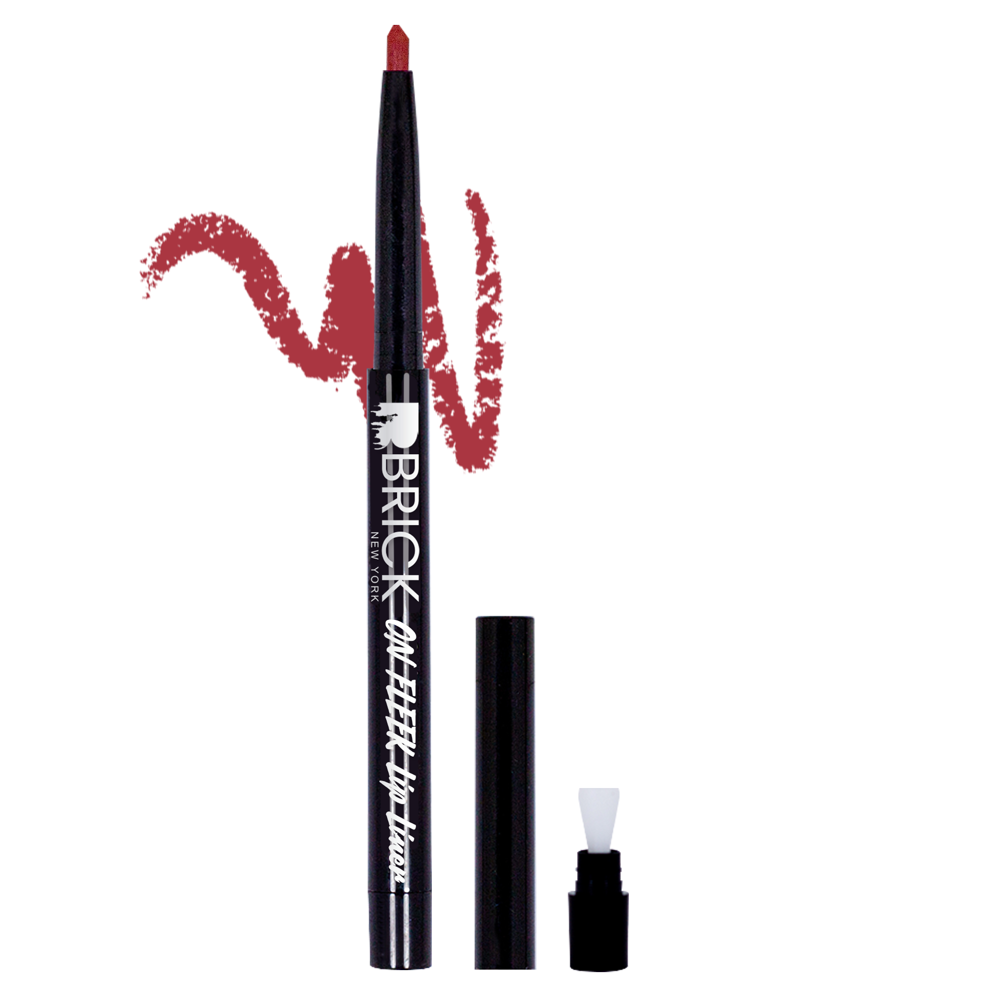BRICK New York On Fleek Lip Liner - Brick Red 02