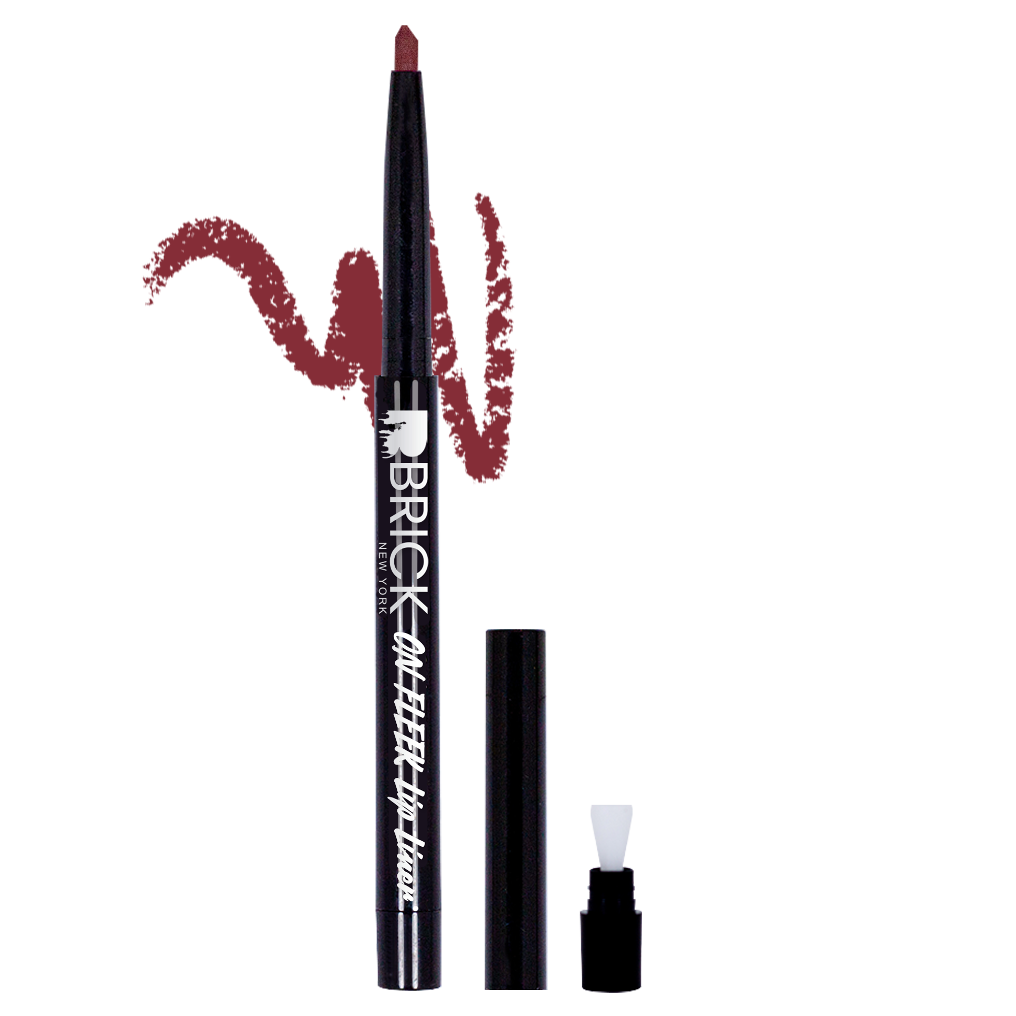 BRICK New York On Fleek Lip Liner - Deep Wine 03