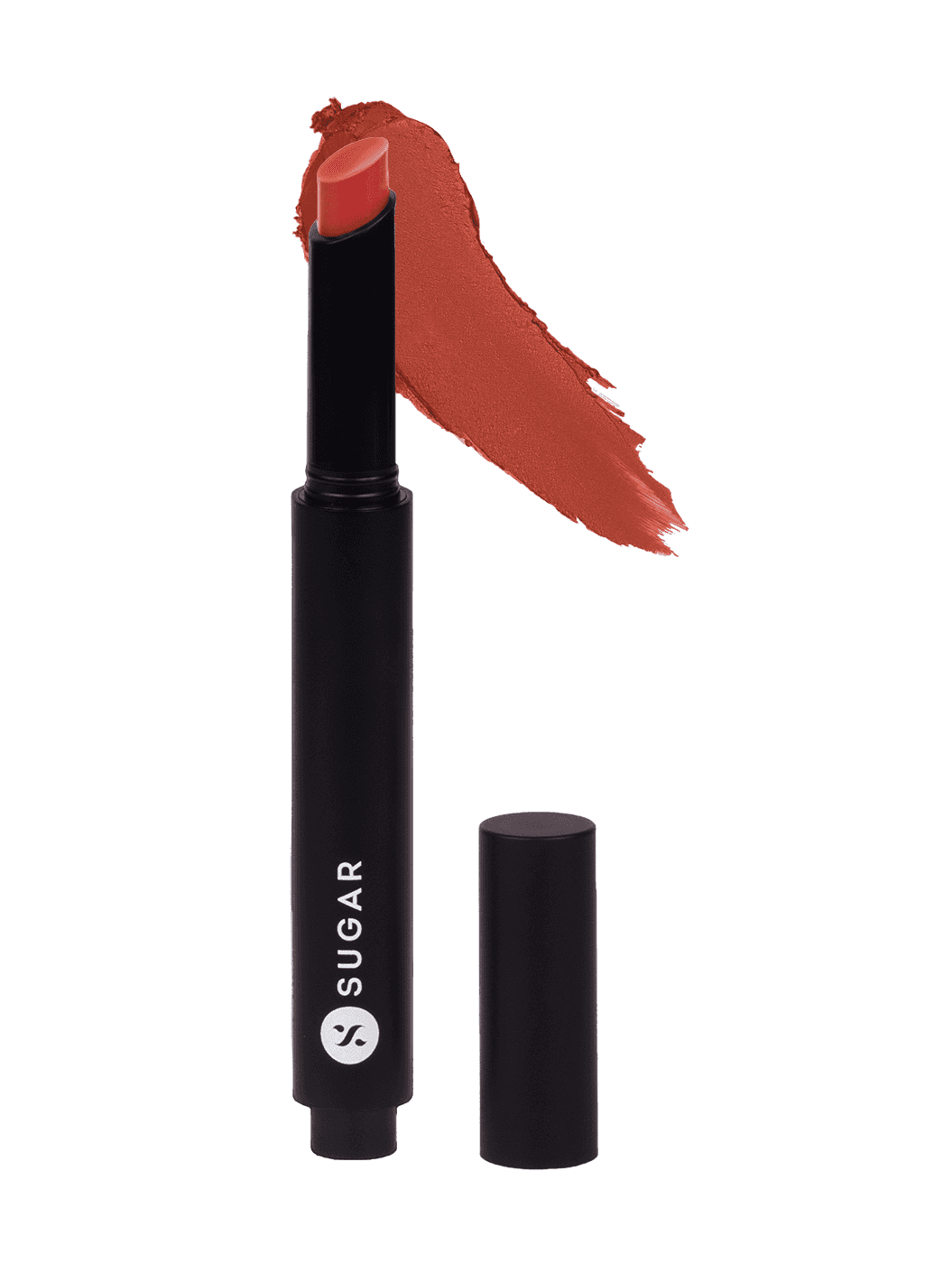 SUGAR Click Me Up Velvet Lipstick - 03 Foxy Fawn (Burnt Red Brown Nude/Rusty Nude)