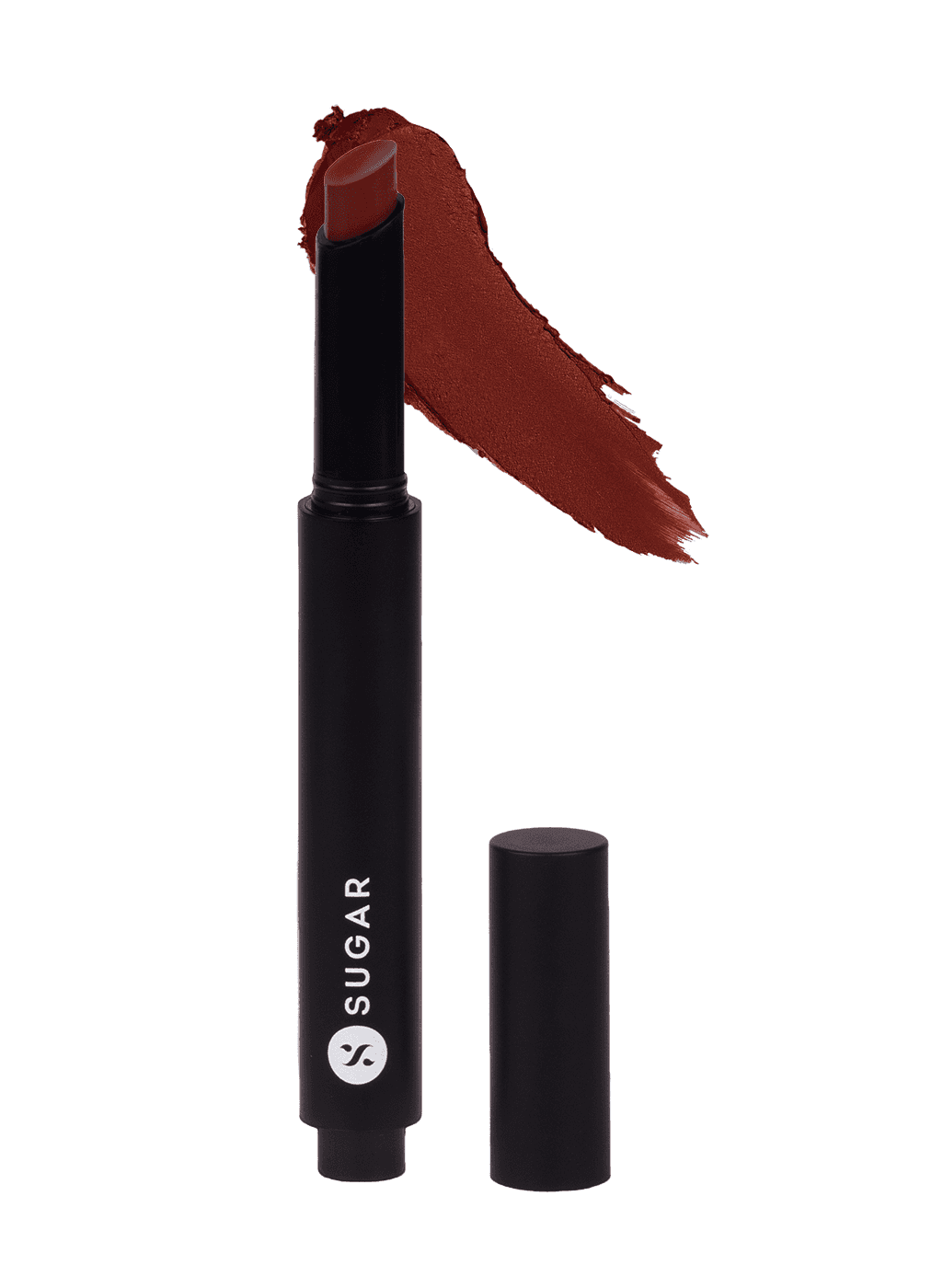 SUGAR Click Me Up Velvet Lipstick - 08 Smoking Sienna (Brown Toned Burnt Orange)