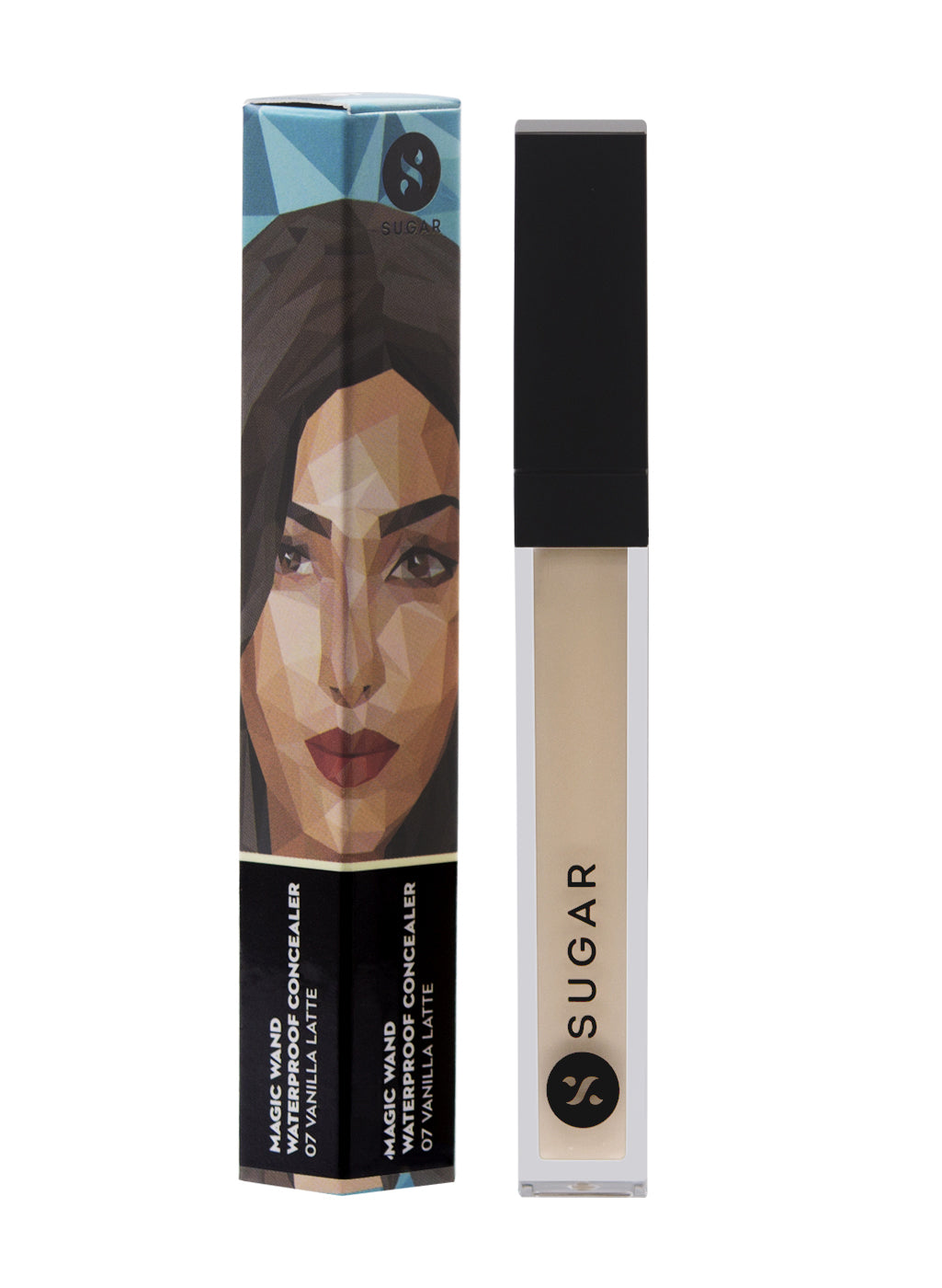SUGAR Magic Wand Waterproof Concealer - 07 Vanilla Latte (Fair, Golden Undertone)