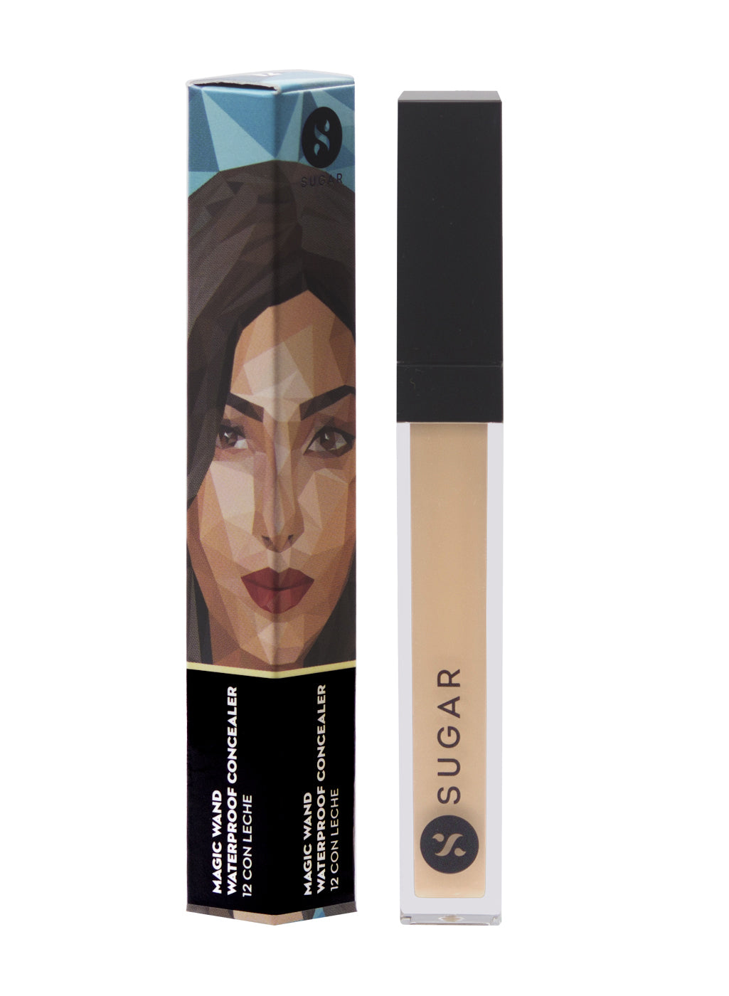 SUGAR Magic Wand Waterproof Concealer - 12 Con Leche (Light, Golden Undertone)