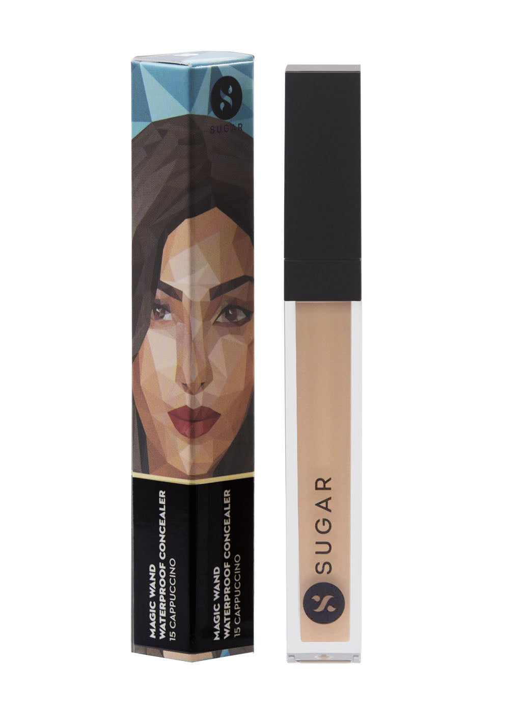 SUGAR Magic Wand Waterproof Concealer - 15 Cappuccino (Light, Cool Undertone)